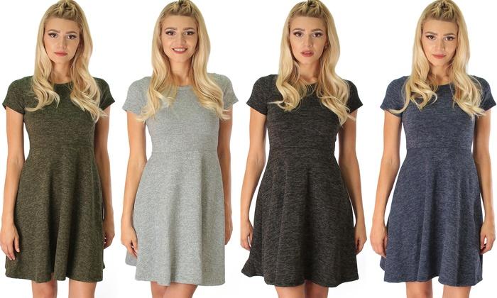 Sociology Women's Space-Dye Flippy Dress   Groupon Exclusive