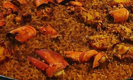 Menú de arroz para 2 con entrante, postre y bebida en Muchavista Barra Alicantina (hasta 49% de descuento)