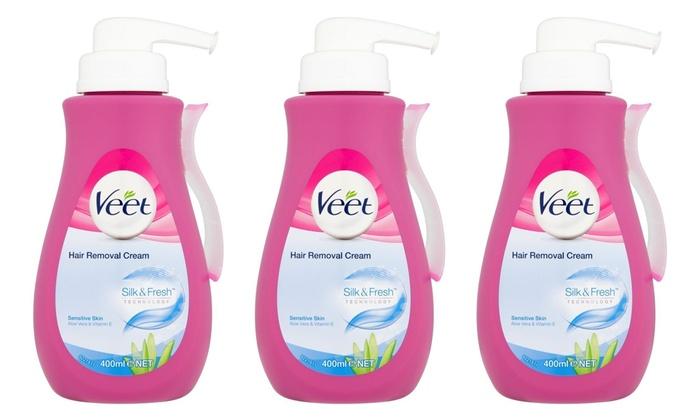 Veet Pump Hair Removal Cream 400ml Groupon Goods