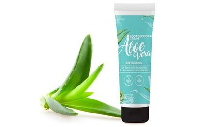 Crema hidratante natural para pies con Aloe Vera