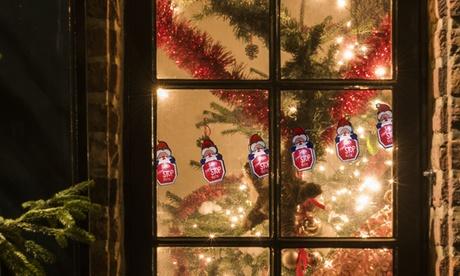 1, 2 o 3 cadenas de 10 luces LED navideñas
