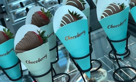 ChocolateDipped Strawberries or Waffle Bites with Milkshake for One or Two at Chocoberry Cafe
