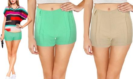 Completo donna camicia e shorts