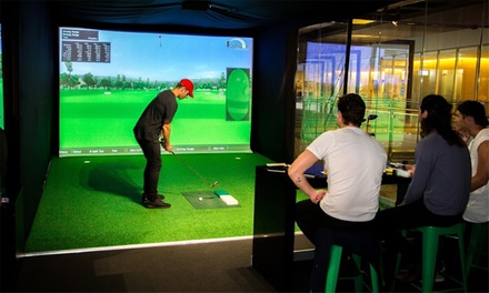 45-Min Golf Lesson + 45-Minute Virtual Play Time for 1 ($32) or 2 People ($59) at Slice Virtual Golf (Up to $230 Value)