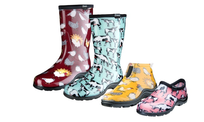 Sloggers Farm Print Womens Garden Shoes and Boots Groupon