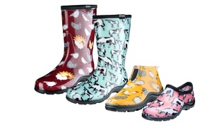 Sloggers Farm Print Women's Garden Shoes and Boots