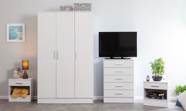 Ellison Bedroom Furniture Range Groupon, White Gloss Bedroom Furniture Range