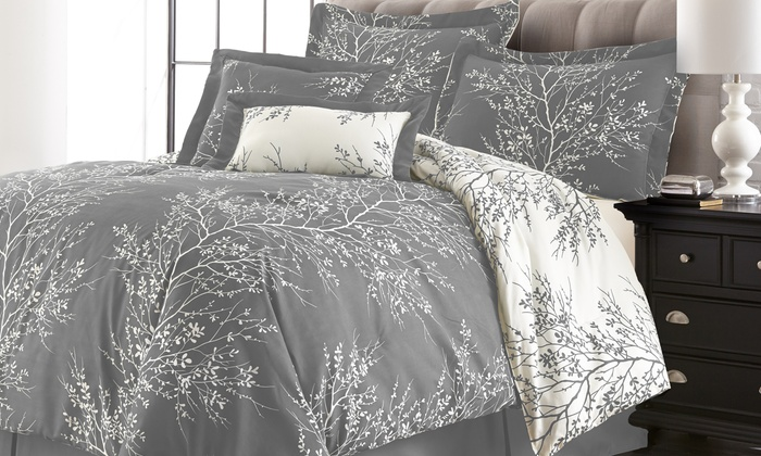 up to 82 off on reversible comforter set 6 pc groupon goods