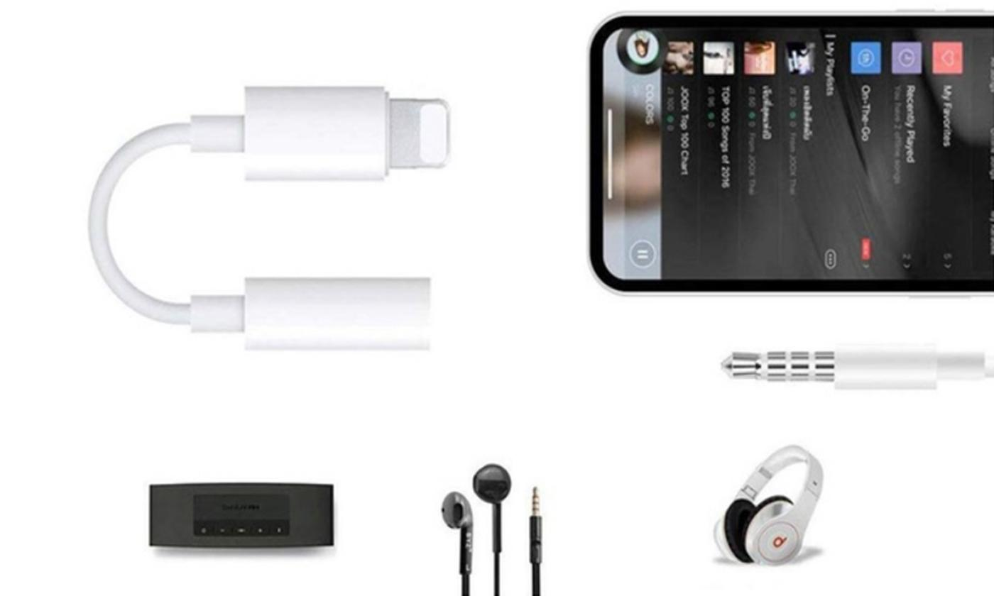 One or Two 3.5mm Audio Adapters for Apple Connector Devices