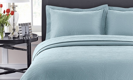 Luxury Cotton Coverlets and Pillow Shams from $29.99–$99.99