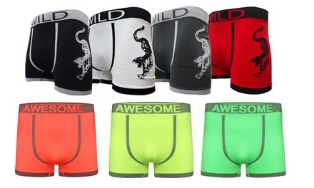 Six-Pack of Mens Seamless Boxer Shorts