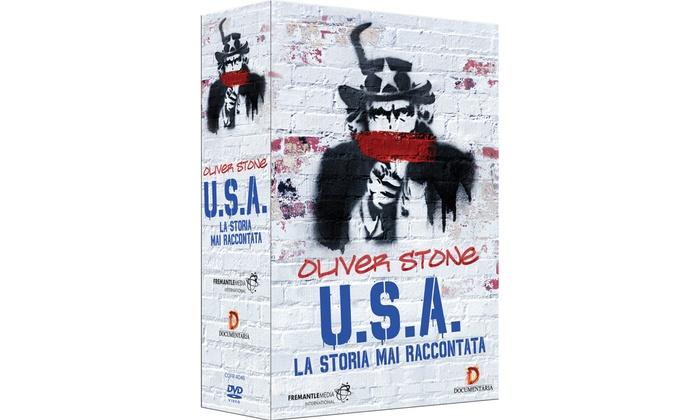 Groupon Goods Global GmbH: Cofanetto 4 DVD 'USA, la storia mai raccontata' di Oliver Stone a 21,90 € (45%di sconto)