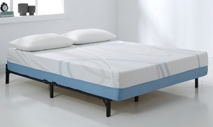 """AC Pacific 12"""" Charcoal and Gel Infused Memory Foam Mattress"""