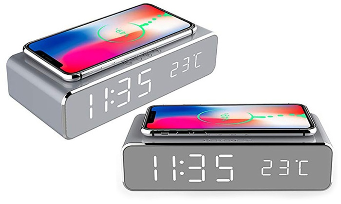 Two-in-One Alarm Clock with Charging Station