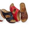 Lady Godiva Women's Open Toe Comfort Wedge Sandals