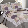 All For You Printed Quilt Set with Patchwork Prints (3-Piece)