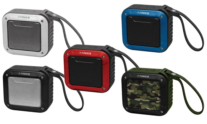Fisher FBT180 Portable Bluetooth Speaker Water-, Shock-, and