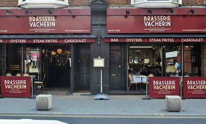 Croydon: Three-Course French Dining Experience with Coffee and Wine for Up to Two at Brasserie Vacherin (Up to 50% Off)
