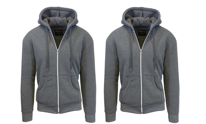 Men's Sherpa-Lined Fleece Hoodies (2-Pack) (Size XL)