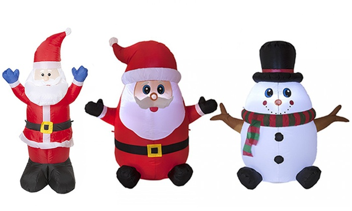 Inflatable Christmas Decorations.Pms International Inflatable Santa Or Snowman And Father Xmas Christmas Decorations
