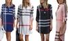 Women's Plaid Dress. Plus Sizes Available.