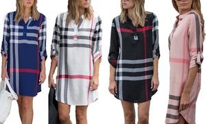 Women's Plaid Dress. Plus Sizes Available. (Sizes L, XL, 2X, 3X)