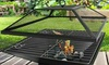 Square BBQ Grill Fire Pit