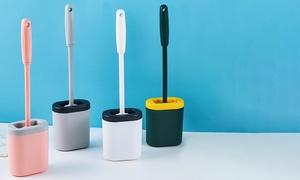 Brosse WC en silicone, coloris au choix