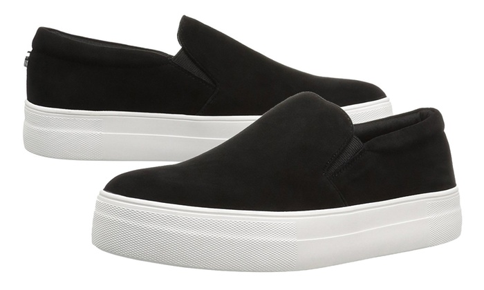 affa605a40a Steve Madden Women s Gills Fashion Sneakers  Black Suede 7.5