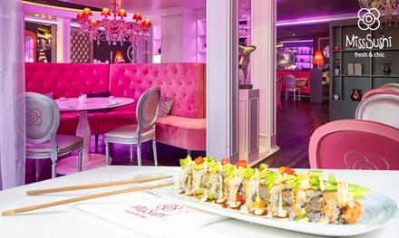 Menú japonés para dos personas con entrante, principal, postre y bebida desde 29,99 € en Miss Sushi