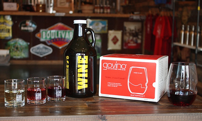 Growler Time - Tucker: Wine Tasting, Wine Growlers, and Souvenir Glasses for Two or Four at Growler Time (Up to 51% Off)