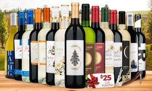 15 Bottles of Wine & Corkscrew