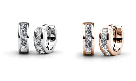 Creolen in Silber oder Roségold, veredelt mit Kristallen von Swarovski® (68% sparen*)