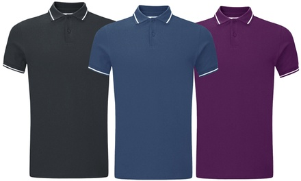 Men's Tipping Collared Polo TShirt TwoPack
