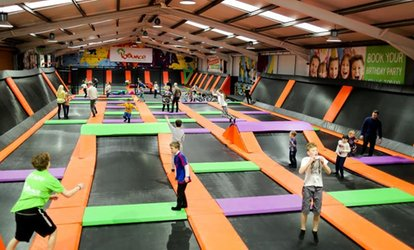 image for One-Hour Trampoline Session for Up to Four at Bounce Central UK (41% Off)