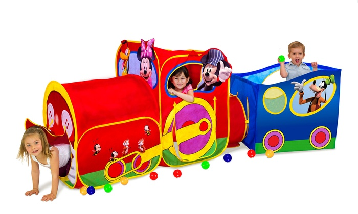 Disneyu0027s Mickey Mouse Train Play Tent Disneyu0027s Mickey Mouse Train Play ...  sc 1 st  Groupon : mickey tent - memphite.com