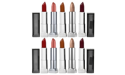 $19 for a TenPack of Maybelline Color Sensational Metallic Lipsticks Don't Pay $100