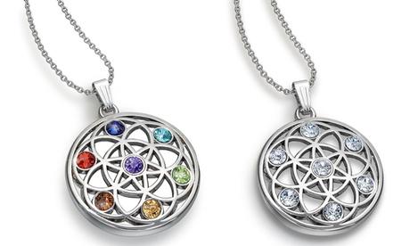 1 o 2 collares Chakra decorados con cristales