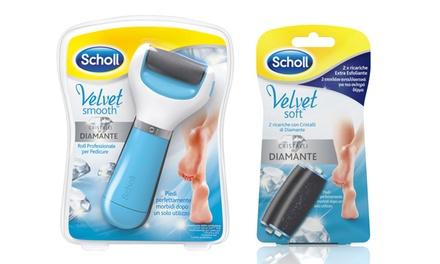 Scholl Velvet Soft Roll Rosa o Blu con ricariche Extra Esfoliante, Soft Touch e Micralumina