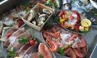 Aperifish di pesce con crudi di mare e calice di vino per 2 persone da Fish Empire in zona Bufalotta (sconto 50%)