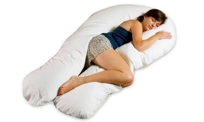 oreiller femme enceinte Grand coussin de grossesse et d'allaitement | Groupon Shopping oreiller femme enceinte