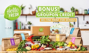 HelloFresh: HelloFresh: Weekly Delivered Meal Plans from $29.90 + Up to $25 Groupon Credit - New Customers Only