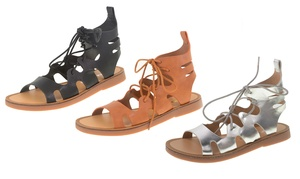 Dirty Laundry Bevelled Flat Sandals