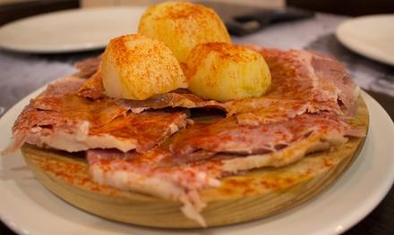 Menú de raciones ''Sabor a Galicia'' para 2 personas por 14,95 € en 6 restaurantes A Feira Pulperías