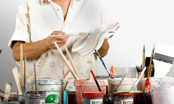 P3 Creative Ceramics & More - Tulsa: $15 for Five Pottery-Painting Sessions at P3 Creative Ceramics & More ($50 Value)