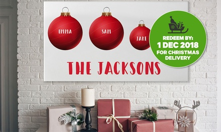 .99 for Personalised Christmas Canvas Prints in Choice of Size Don't Pay up to $199.95