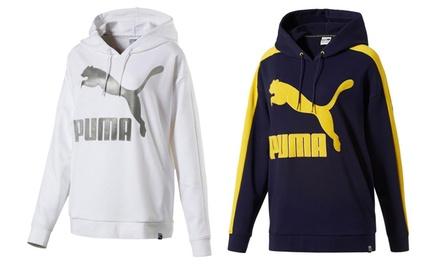 Sudadera clásica Puma con logo y capucha