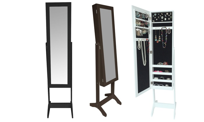miroir coffre bijoux groupon. Black Bedroom Furniture Sets. Home Design Ideas