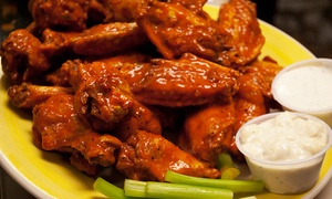 Charlie Brown's Neighborhood Bar & Grill: American Comfort Food and Wings at Charlie Brown's Neighborhood Bar & Grill (Up to 40% Off). Three Options.