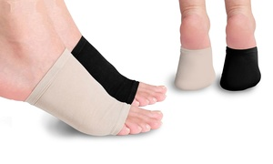 Plantar-Fasciitis Gel-Infused Arch-Support Foot Sleeve (2-Pack)